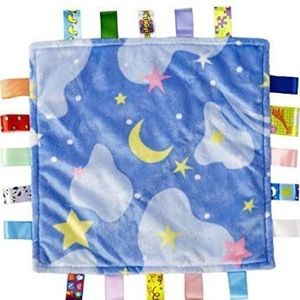 Taggies Blue Stars Moon Baby Security Blanket